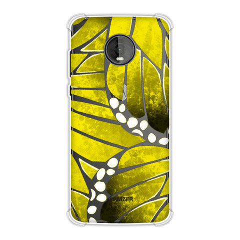 Butterfly - Mustard Ombre Bleached Fibre Wing Collage Soft Flex Tpu Case For Motorola Moto Z4