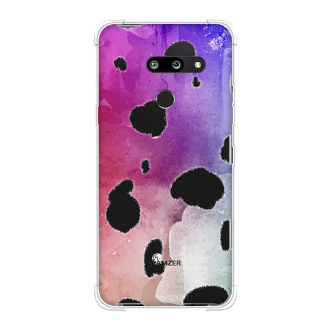 Dalmatian - White Spots With Aquatic Watercolour Overall Soft Flex Tpu Case For LG G8 ThinQ