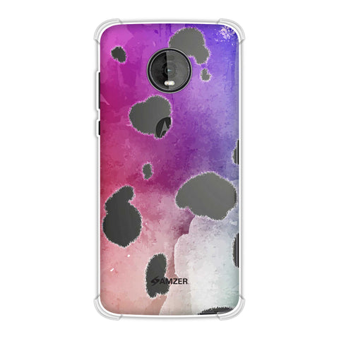 Dalmatian - White Spots With Aquatic Watercolour Overall Soft Flex Tpu Case For Motorola Moto Z4