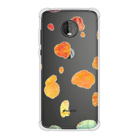 Dalmatian - Organic Watercolour Spots On Black Soft Flex Tpu Case For Motorola Moto Z4