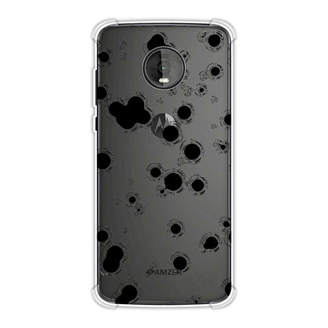 Dalmatian - Black Rippled Polka On White Soft Flex Tpu Case For Motorola Moto Z4