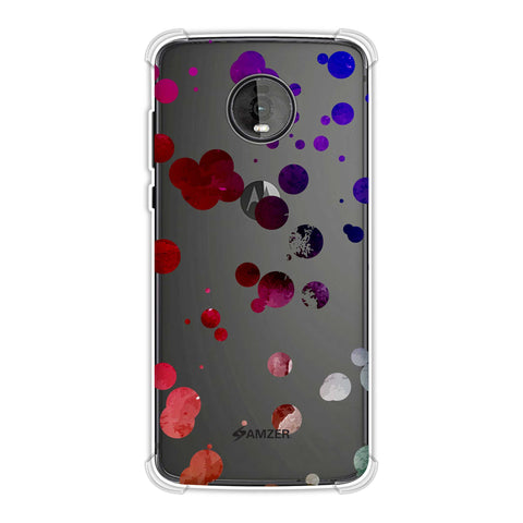 Dalmatian - Watercolour Organic Polks Spots On Black Soft Flex Tpu Case For Motorola Moto Z4