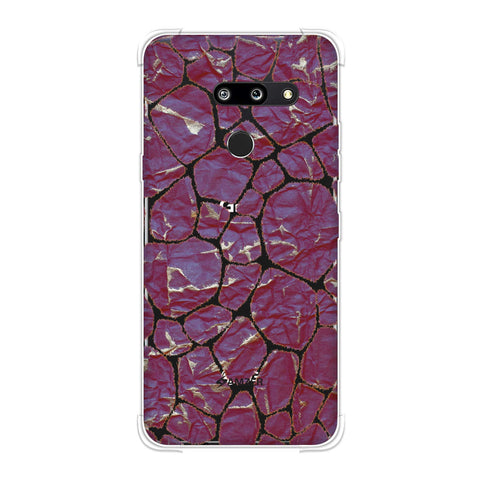 Giraffe - Mustard Brushed Scales With Crushed Paper Effect Soft Flex Tpu Case For LG G8 ThinQ