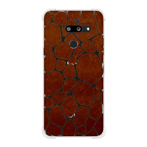 Giraffe - Active Brown Brushed Soft Flex Tpu Case For LG G8 ThinQ