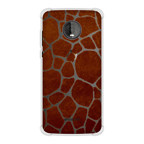 Giraffe - Active Brown Brushed Soft Flex Tpu Case For Motorola Moto Z4