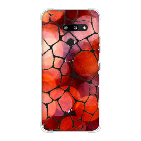 Giraffe - Mustard Brushed Scales With Overexposed Spotlight Backdrop Soft Flex Tpu Case For LG G8 ThinQ