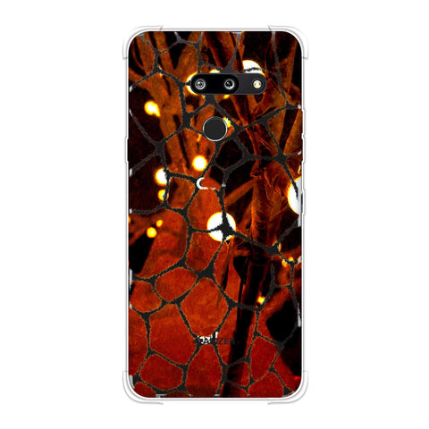 Giraffe - Beige Brushed Scales With Spotlight Photographic Effect Soft Flex Tpu Case For LG G8 ThinQ