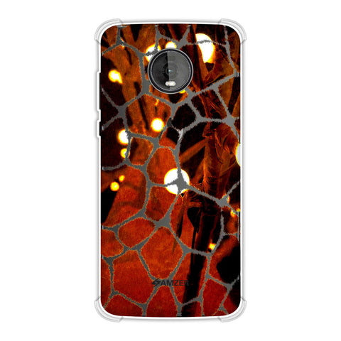 Giraffe - Beige Brushed Scales With Spotlight Photographic Effect Soft Flex Tpu Case For Motorola Moto Z4