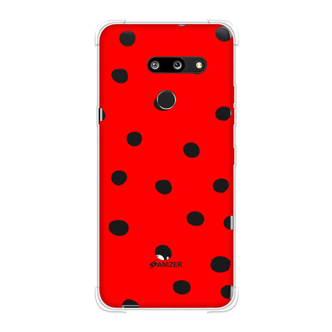 Lady Bug - Red And Black Dots Soft Flex Tpu Case For LG G8 ThinQ