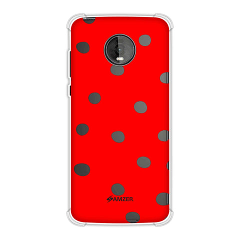 Lady Bug - Red And Black Dots Soft Flex Tpu Case For Motorola Moto Z4