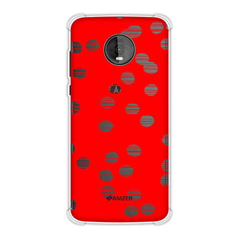 Lady Bug - Red And Black Combed Dots Soft Flex Tpu Case For Motorola Moto Z4