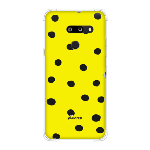 Lady Bug - Yellow And Black Dots Soft Flex Tpu Case For LG G8 ThinQ