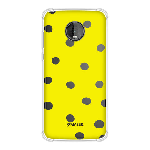 Lady Bug - Yellow And Black Dots Soft Flex Tpu Case For Motorola Moto Z4