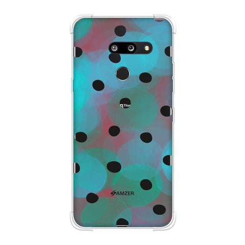 Lady Bug - Peach And Red Dots With Starry Effect Soft Flex Tpu Case For LG G8 ThinQ