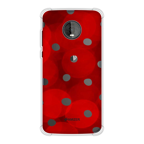 Lady Bug - Red And Black Dots With Spotlight Effect Soft Flex Tpu Case For Motorola Moto Z4