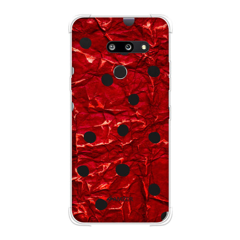 Lady Bug - Black And Red Crushed Gloss Dots Soft Flex Tpu Case For LG G8 ThinQ