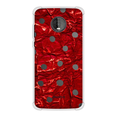 Lady Bug - Black And Red Crushed Gloss Dots Soft Flex Tpu Case For Motorola Moto Z4