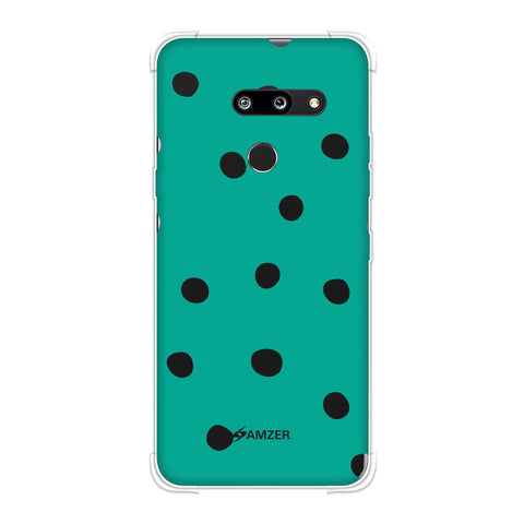 Lady Bug - Teal Green And White Dots Soft Flex Tpu Case For LG G8 ThinQ