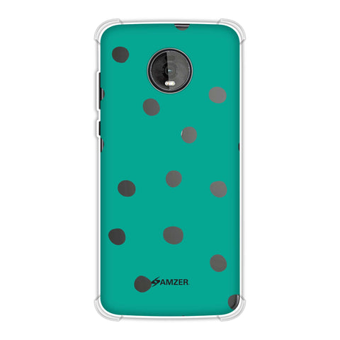 Lady Bug - Teal Green And White Dots Soft Flex Tpu Case For Motorola Moto Z4