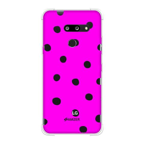 Lady Bug - Hot Pink And White Dots Soft Flex Tpu Case For LG G8 ThinQ