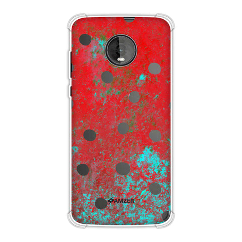 Lady Bug - Black Dots On Powder Blue Soft Flex Tpu Case For Motorola Moto Z4