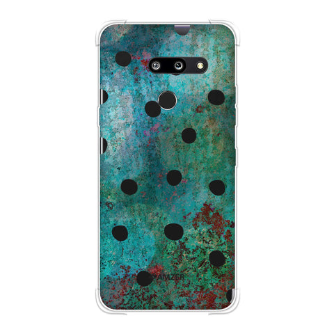 Lady Bug - Black Dots On Green Mold Wood Effect Soft Flex Tpu Case For LG G8 ThinQ