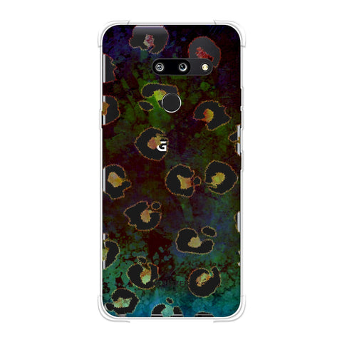 Leopard - Brushed Spots - Yellow Grunge Soft Flex Tpu Case For LG G8 ThinQ