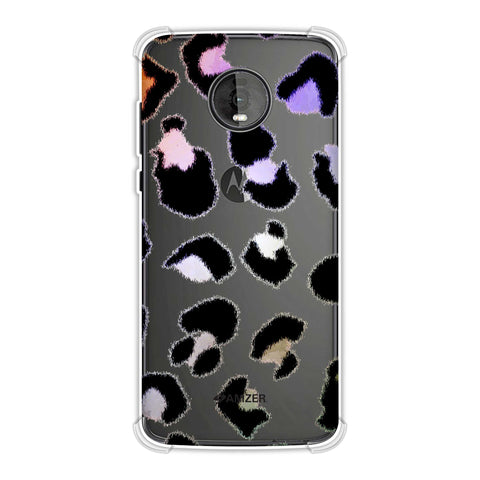 Leopard - Washed Watercolour Batik Effect Soft Flex Tpu Case For Motorola Moto Z4