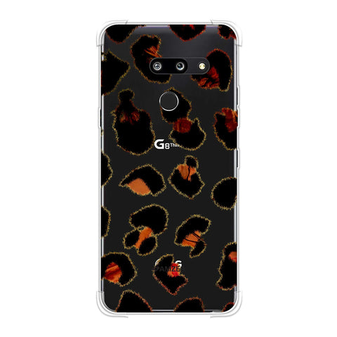 Leopard - Brushed Spots With Peach Marble Effect Soft Flex Tpu Case For LG G8 ThinQ