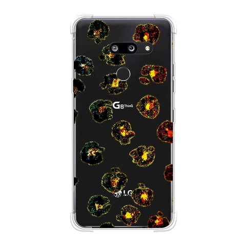 Leopard - Multicolour Brushed Spots With Yellow Textured Effect Soft Flex Tpu Case For LG G8 ThinQ