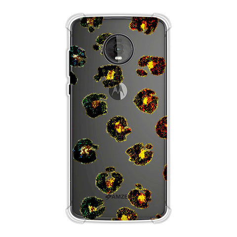 Leopard - Multicolour Brushed Spots With Yellow Textured Effect Soft Flex Tpu Case For Motorola Moto Z4