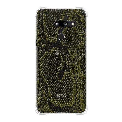 Snakes - Olive Green Skin Soft Flex Tpu Case For LG G8 ThinQ