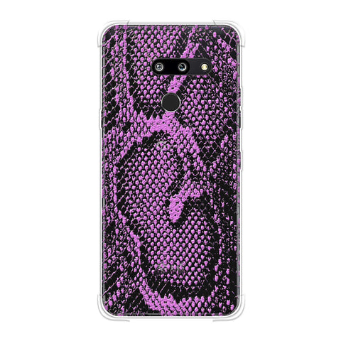Snakes - Incandescent Pink Skin Soft Flex Tpu Case For LG G8 ThinQ