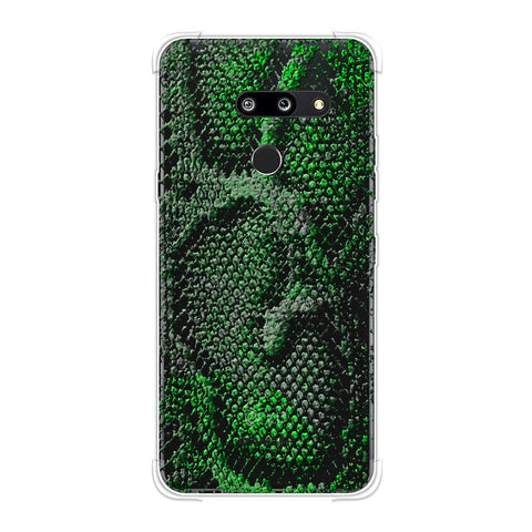 Snakes - Neon Green Skin Soft Flex Tpu Case For LG G8 ThinQ