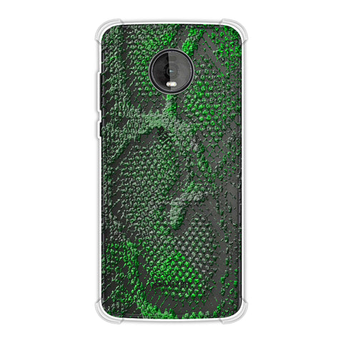 Snakes - Neon Green Skin Soft Flex Tpu Case For Motorola Moto Z4