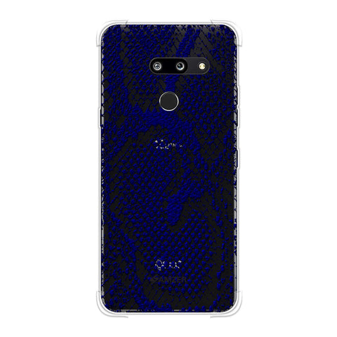 Snakes - Midnight Blue Skin Soft Flex Tpu Case For LG G8 ThinQ