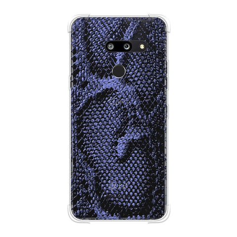 Snakes - Lavender And Grey Skin Soft Flex Tpu Case For LG G8 ThinQ