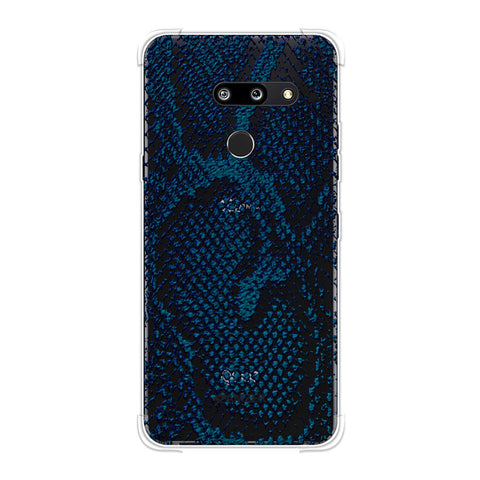 Snakes - Deep Teal Skin Soft Flex Tpu Case For LG G8 ThinQ