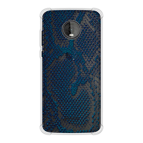 Snakes - Deep Teal Skin Soft Flex Tpu Case For Motorola Moto Z4