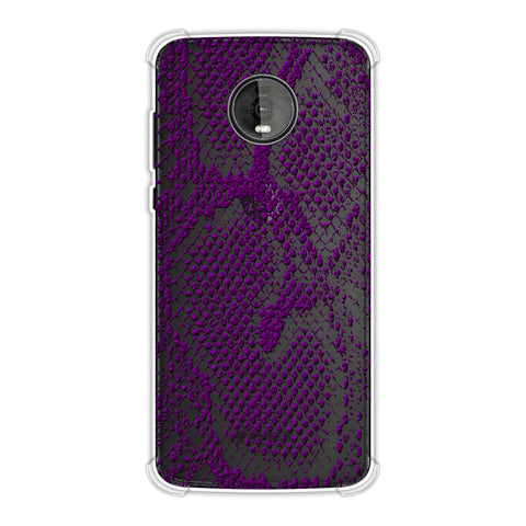 Snakes - Dark Purple Skin Soft Flex Tpu Case For Motorola Moto Z4