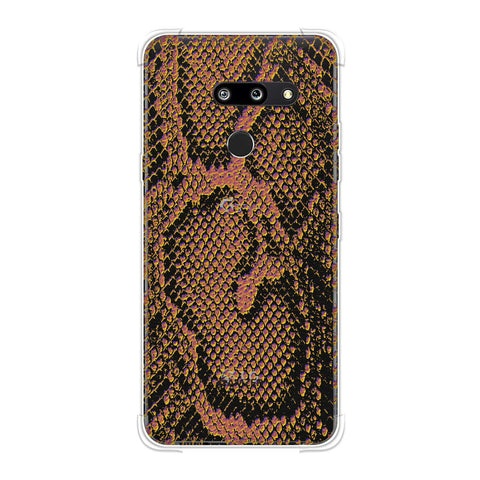Snakes - Mustard Yellow Skin Soft Flex Tpu Case For LG G8 ThinQ