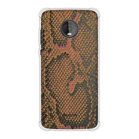 Snakes - Mustard Yellow Skin Soft Flex Tpu Case For Motorola Moto Z4