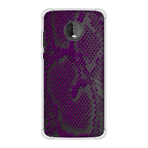 Snakes - Plum Skin Soft Flex Tpu Case For Motorola Moto Z4
