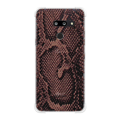 Snakes - Diffused Maroon Skin Soft Flex Tpu Case For LG G8 ThinQ