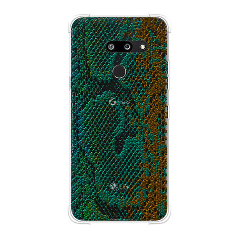 Snakes - Green And Gold Ombre Skin Soft Flex Tpu Case For LG G8 ThinQ