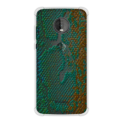 Snakes - Green And Gold Ombre Skin Soft Flex Tpu Case For Motorola Moto Z4