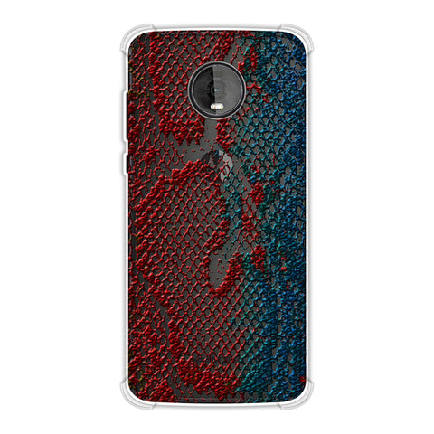 Snakes - Coral And Blue Ombre Skin Soft Flex Tpu Case For Motorola Moto Z4