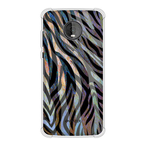 Zebra - Rainbow Stripes Hair Overlap Pattern Soft Flex Tpu Case For Motorola Moto Z4