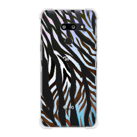 Zebra - Brown And Watercolour Stripes Hair Overlap Pattern Soft Flex Tpu Case For LG G8 ThinQ