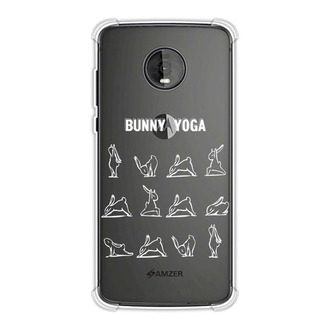 Bunny Yoga Soft Flex Tpu Case For Motorola Moto Z4